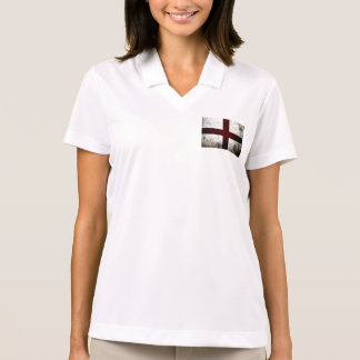 Black Grunge England Flag 2 Polo T-shirt