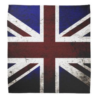Black Grunge England Flag Bandana