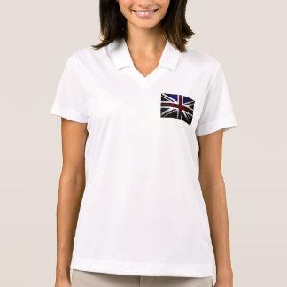 Black Grunge England Flag Polo