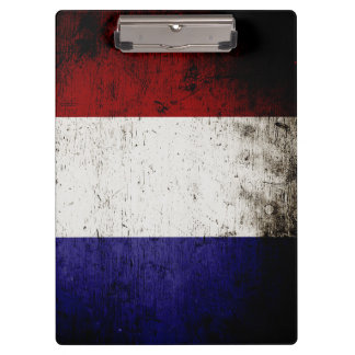 Black Grunge France Flag Clipboard