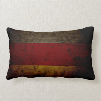 Black Grunge Germany Flag 2 Lumbar Cushion