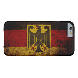 Black Grunge Germany Flag Barely There iPhone 6 Case