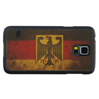 Black Grunge Germany Flag Carved Maple Galaxy S5 Case