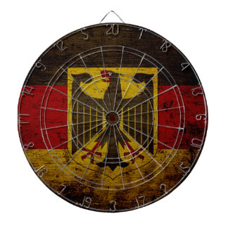 Black Grunge Germany Flag Dartboard