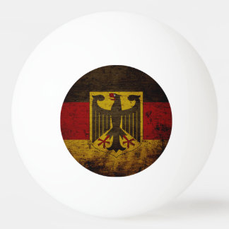 Black Grunge Germany Flag Ping Pong Ball