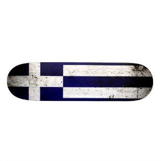 Black Grunge Greece Flag 20 Cm Skateboard Deck