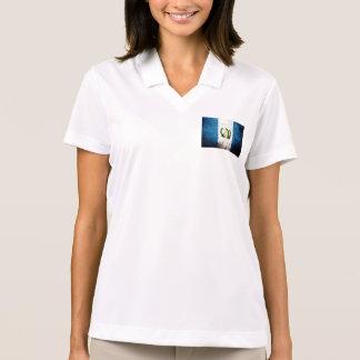 Black Grunge Guatemala Flag Polo Shirt