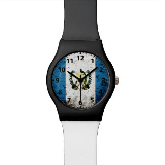 Black Grunge Guatemala Flag Watch
