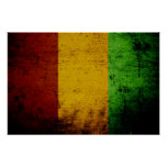 Black Grunge Guinea Flag