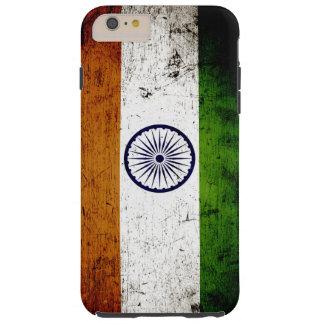 Black Grunge India Flag Tough iPhone 6 Plus Case