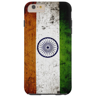 Black Grunge India Flag Tough iPhone 6 Plus Case