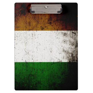 Black Grunge Ireland Flag Clipboard