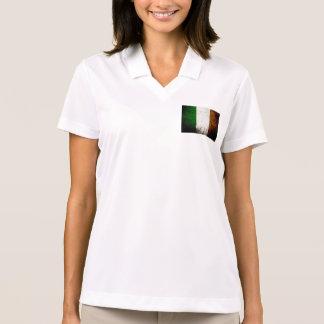 Black Grunge Ireland Flag Polo Shirt