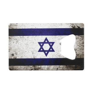 Black Grunge Israel Flag