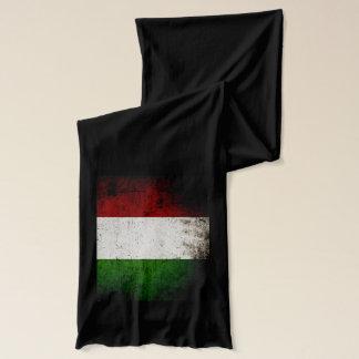 Black Grunge Italy Flag Scarf