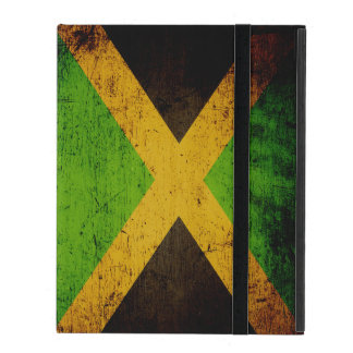 Black Grunge Jamaica Flag iPad Folio Case