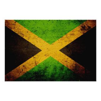 Black Grunge Jamaica Flag Art Photo