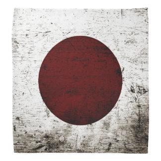 Black Grunge Japan Flag Bandana
