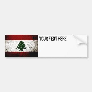 Black Grunge Lebanon Flag Bumper Sticker