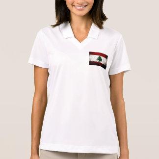 Black Grunge Lebanon Flag Polo Shirt
