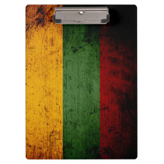 Black Grunge Lithuania Flag Clipboard