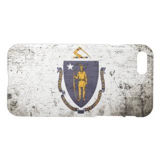 Black Grunge Massachusetts State Flag iPhone 8/7 Case