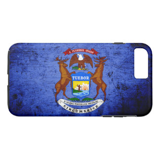 Black Grunge Michigan State Flag iPhone 8 Plus/7 Plus Case