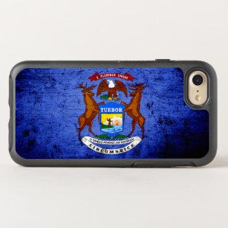 Black Grunge Michigan State Flag OtterBox Symmetry iPhone 7 Case