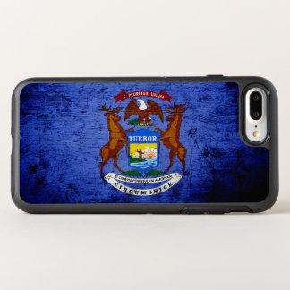 Black Grunge Michigan State Flag OtterBox Symmetry iPhone 8 Plus/7 Plus Case