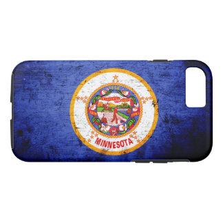 Black Grunge Minnesota State Flag iPhone 7 Case