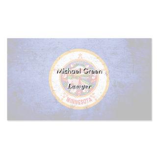 Black Grunge Minnesota State Flag Pack Of Standard Business Cards
