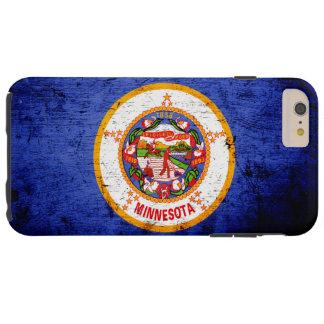 Black Grunge Minnesota State Flag Tough iPhone 6 Plus Case