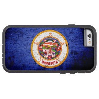 Black Grunge Minnesota State Flag Tough Xtreme iPhone 6 Case
