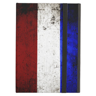 Black Grunge Netherlands Flag Cover For iPad Air