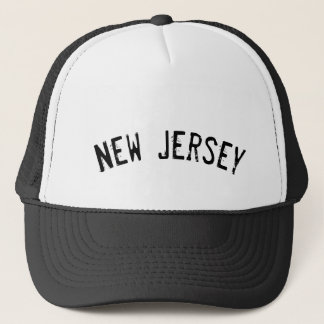 Black Grunge New Jersey Trucker Hat