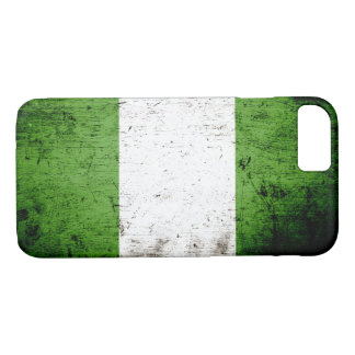 Black Grunge Nigeria Flag iPhone 8/7 Case