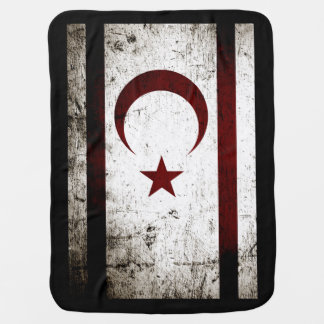 Black Grunge Northern Cyprus Flag Pram blanket