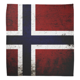 Black Grunge Norway Flag Bandana