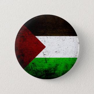 Black Grunge Palestine Flag 6 Cm Round Badge