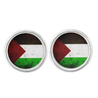 Black Grunge Palestine Flag Cufflinks