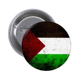 Black Grunge Palestine Flag Pin