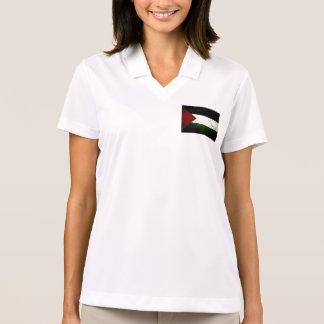 Black Grunge Palestine Flag Polos