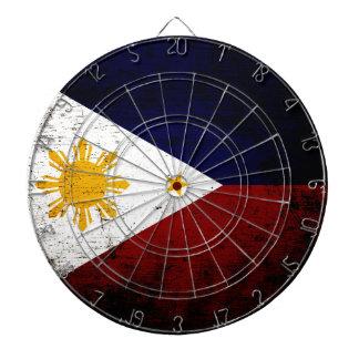 Black Grunge Philippines Flag Dartboard