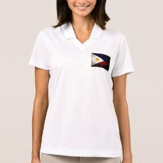 Black Grunge Philippines Flag Polo T-shirt