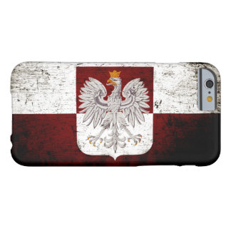 Black Grunge Poland Flag Barely There iPhone 6 Case