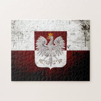 Black Grunge Poland Flag Jigsaw Puzzle
