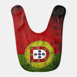 Black Grunge Portugal Flag Bib