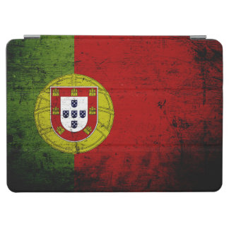 Black Grunge Portugal Flag iPad Air Cover