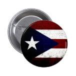 Black Grunge Puerto Rico Flag Pin
