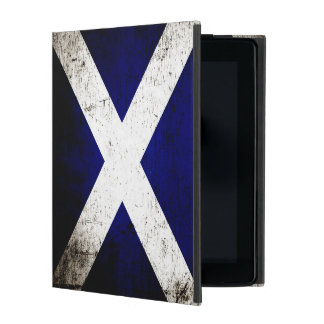 Black Grunge Scotland Flag iPad Case